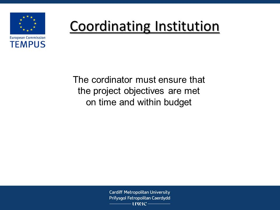 Coordinating Institution