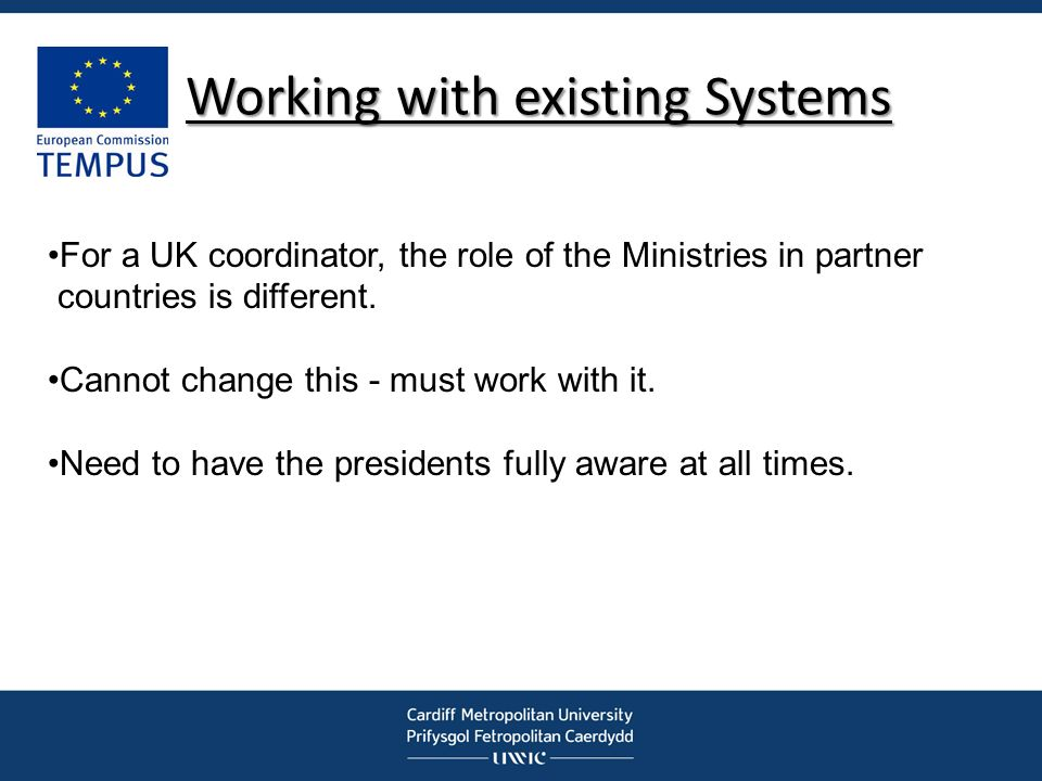 Working with existing Systems