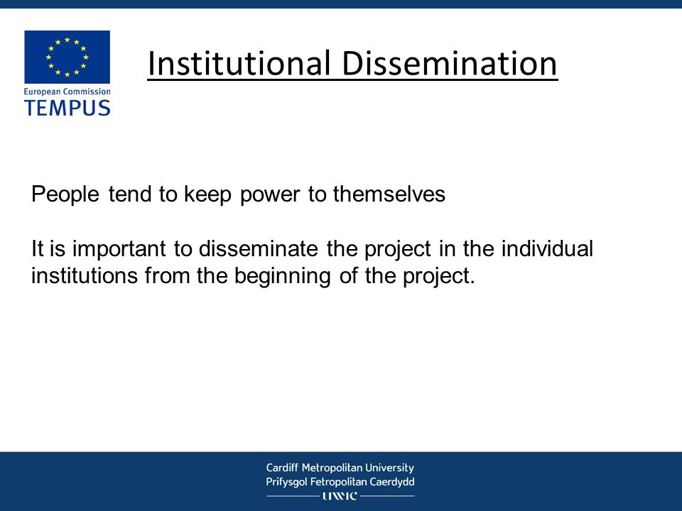 Institutional Dissemination