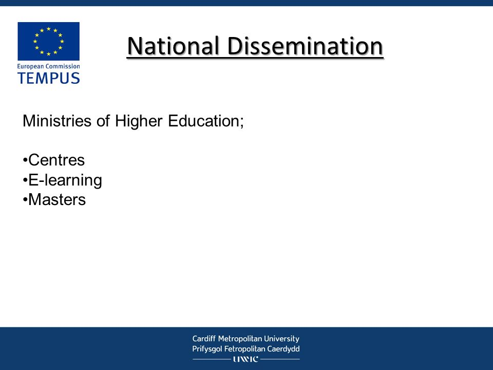 National Dissemination