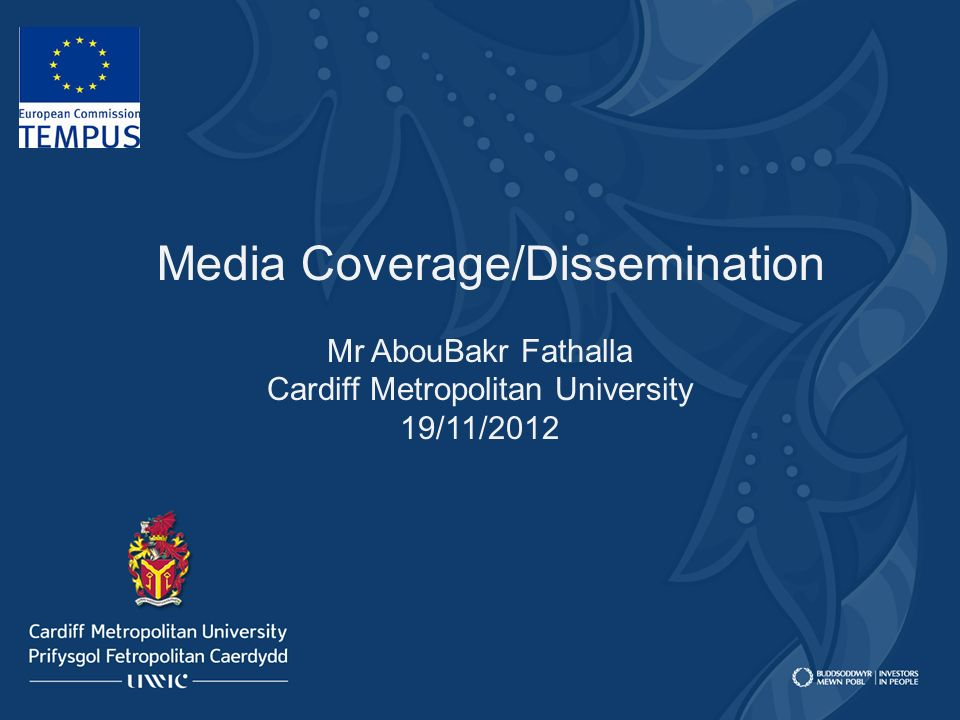 Media Coverage/Dissemination