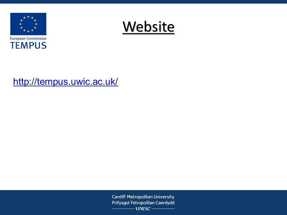 Website http://tempus.uwic.ac.uk/