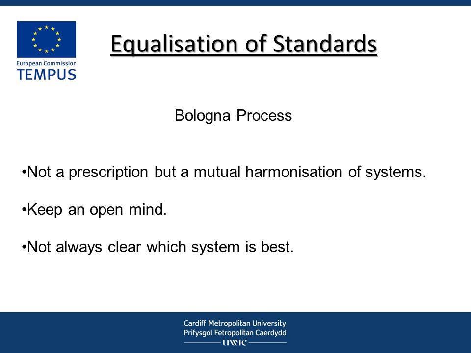 Equalisation of Standards
