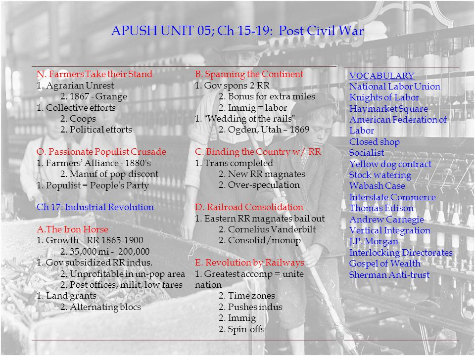 apush ch 5 terms Watch video  apush review sheet for ap us history review: packet, notes, and study guide.