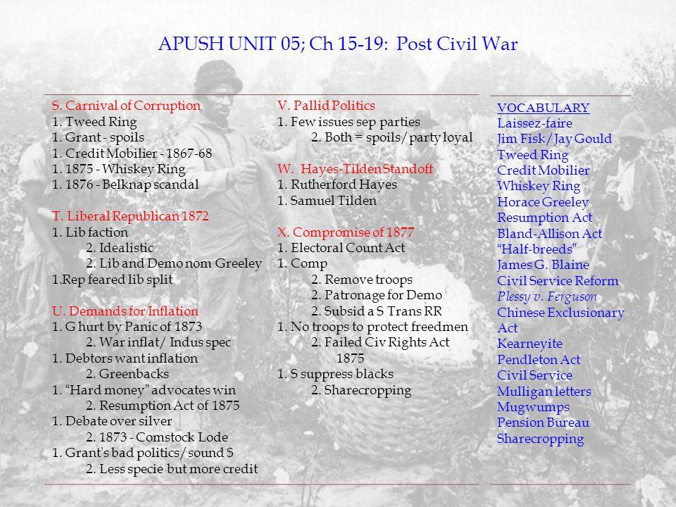 APUSH UNIT 05