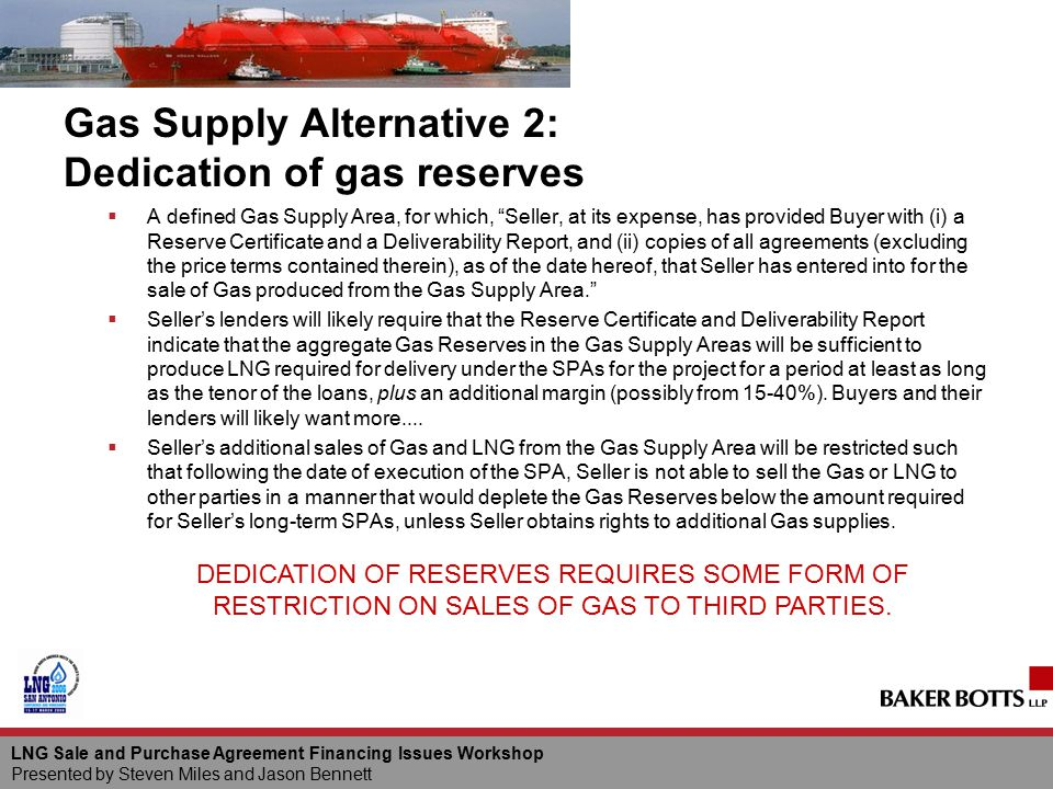 Lng Sale And Purchase Agreement Financing Issues Workshop Ppt Download