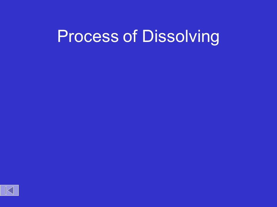 Process of Dissolving