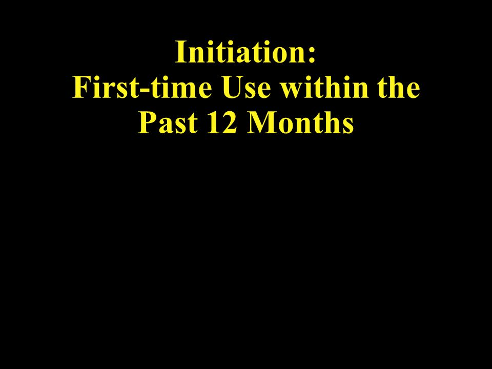 Initiation: First-time Use within the Past 12 Months