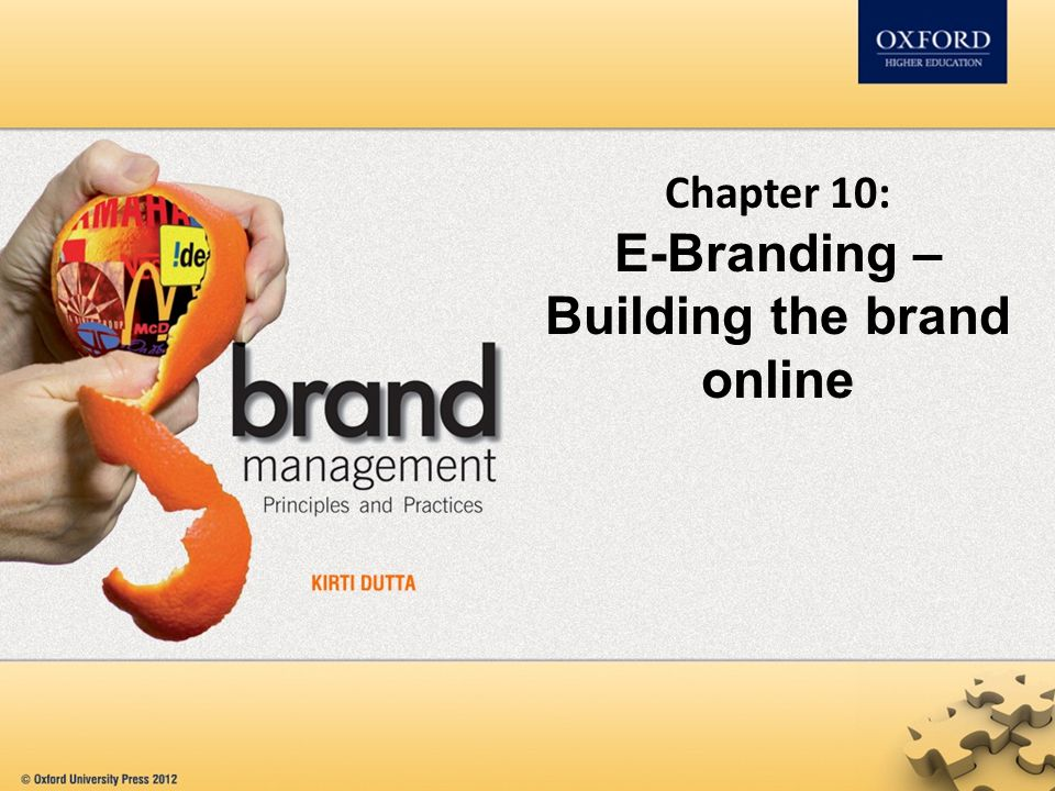 Chapter 10: E-Branding – Building the brand online