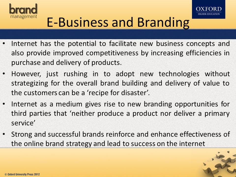 E-Business and Branding