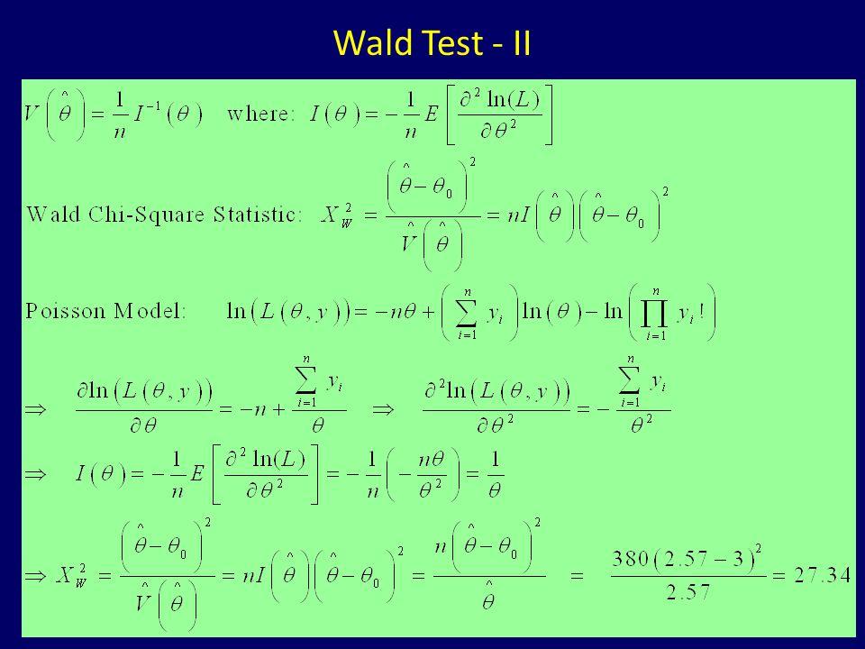 Likelihood Ratio, Wald, and Lagrange Multiplier (Score) Tests - ppt
