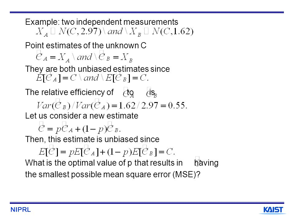 Example: two independent measurements