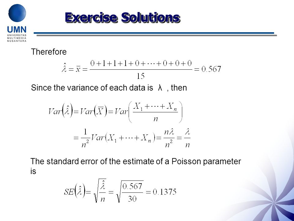 Exercise Solutions Therefore