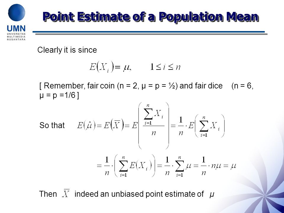 Point Estimate of a Population Mean