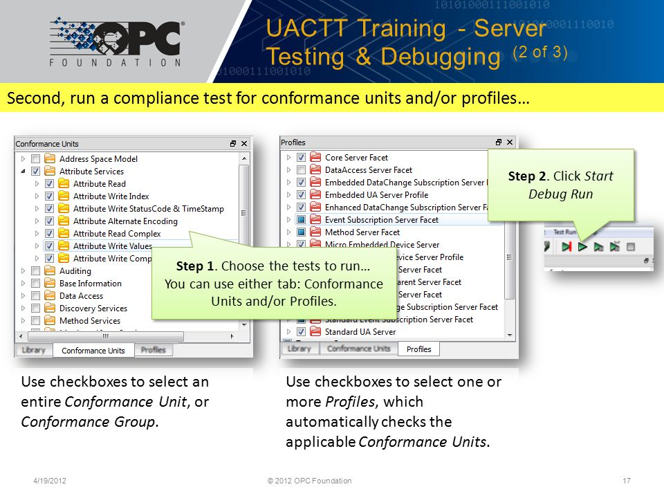 Unified Architecture Training Compliance Test Tool (UACTT) - ppt