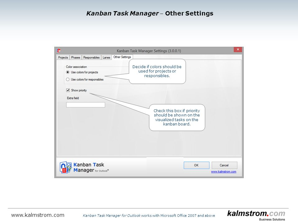Kanban Task Manager ‒ Other Settings