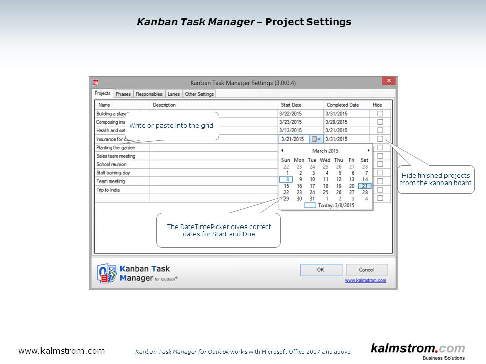 Kanban Task Manager ‒ Project Settings