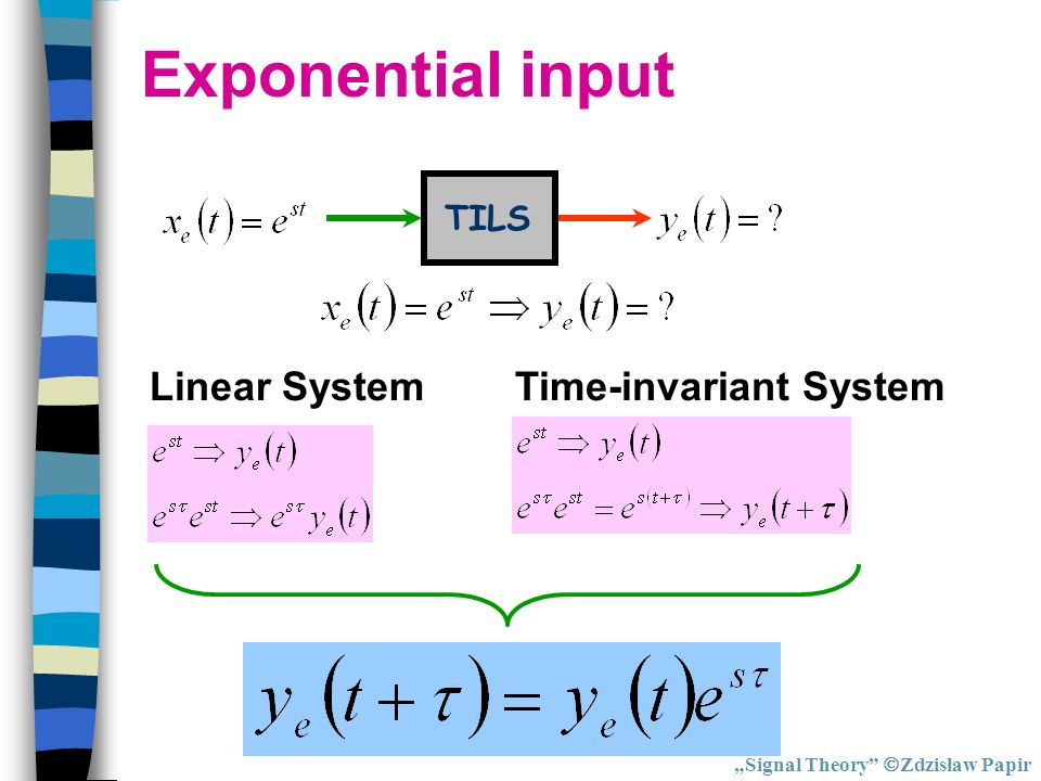 Time-invariant System