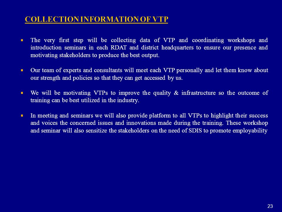 COLLECTION INFORMATION OF VTP