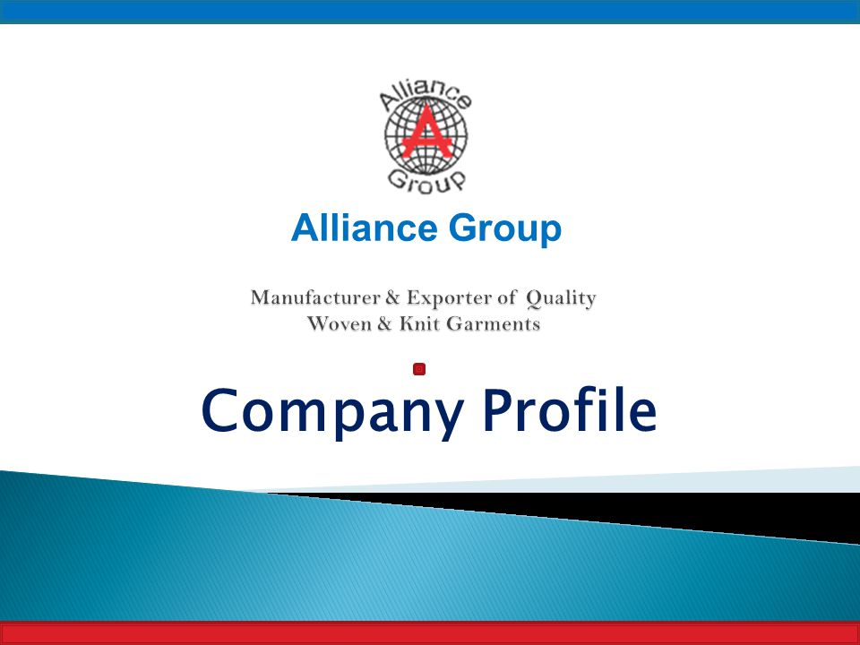 Manufacturer & Exporter of Quality Woven & Knit Garments - ppt download