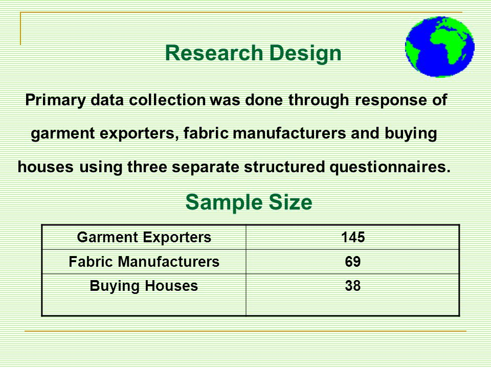 Research Design Sample Size
