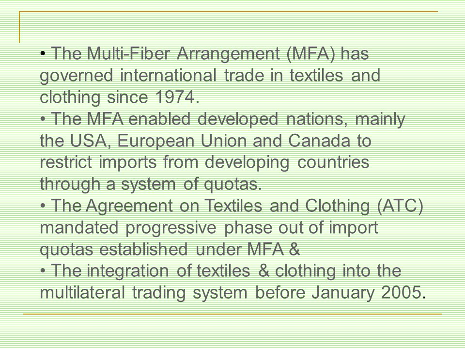 Globalization In The Apparel Industry A Study Of Preparedness Of