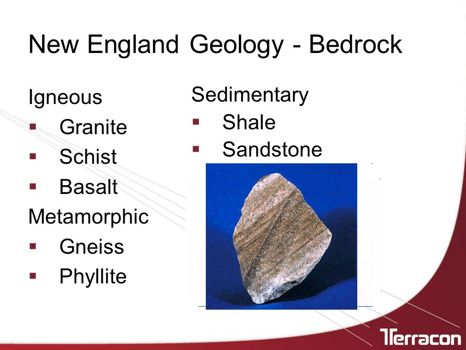 New England Geology - Bedrock