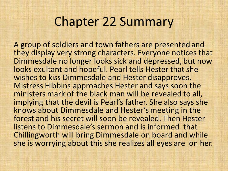 Chapters 21 and 22 The Scarlet Letter ppt video online