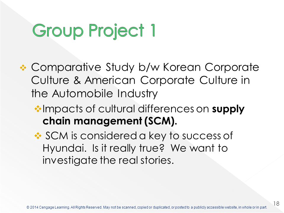 Group Project 1 Comparative Study b/w Korean Corporate Culture & American Corporate Culture in the Automobile Industry.