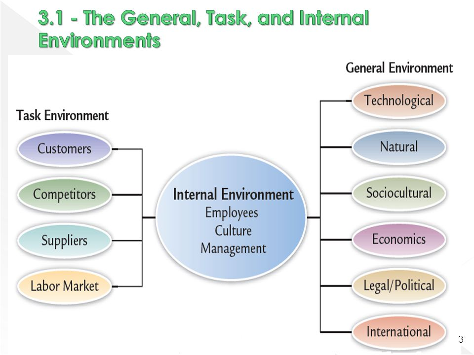 3.1 - The General, Task, and Internal Environments