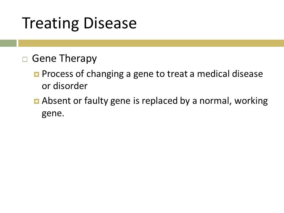 Treating Disease Gene Therapy