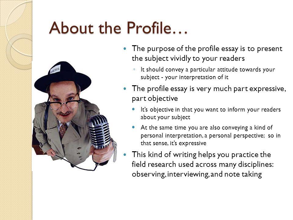 a profile essay