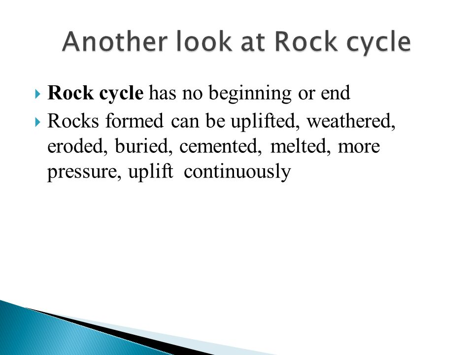 Another look at Rock cycle