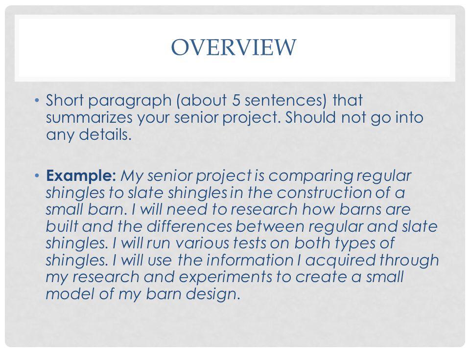 Senior Capstone Project