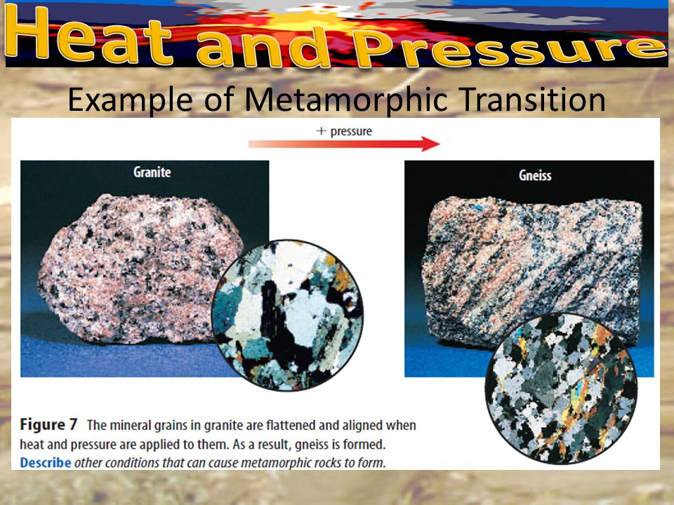 Example of Metamorphic Transition
