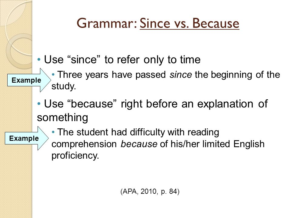 Because / since / as / for. Meaning and examples. Learn english.
