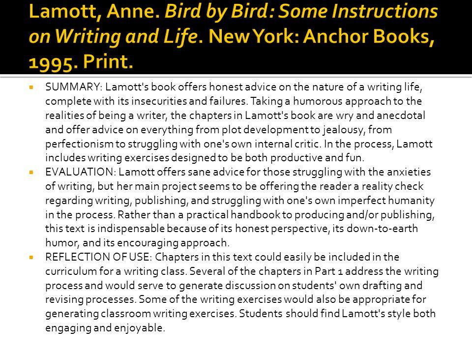 bird by bird summary