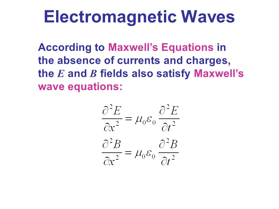 Maxwell's Equations and Electromagnetic Waves - ppt video online download