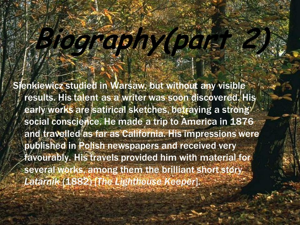 Biography(part 2)