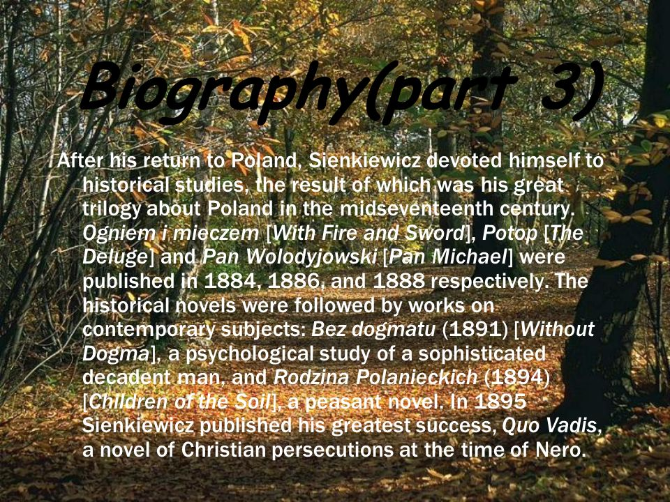 Biography(part 3)