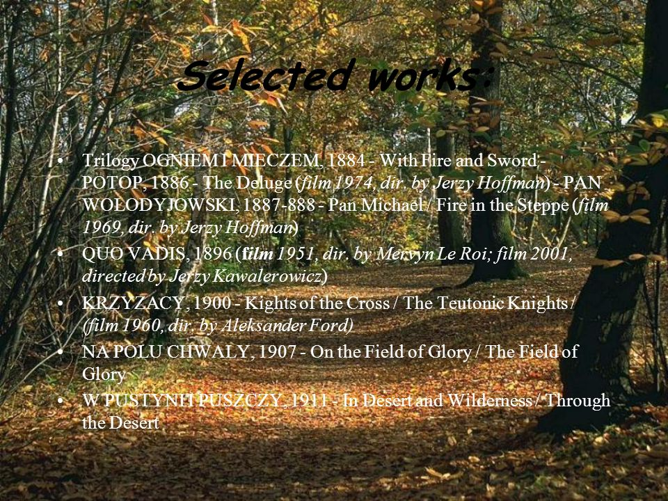 Selected works: