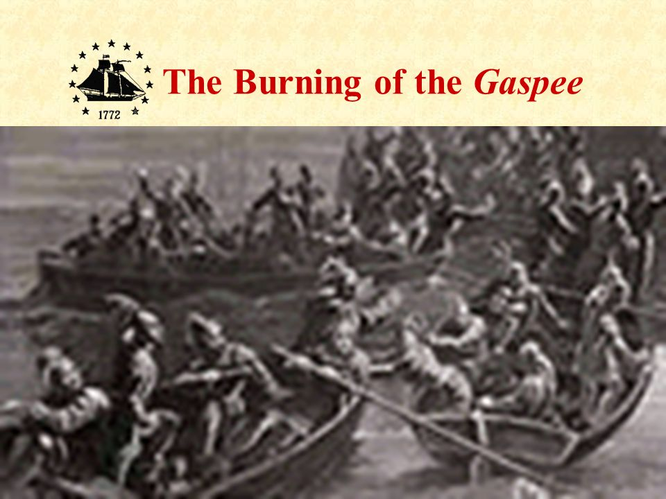 Then men in the boats scrambled on board the Gaspee and soon captured her crew with no loss of life.