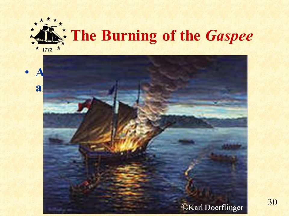 At about 5 am, they set fire to the ship, and left in their longboats.