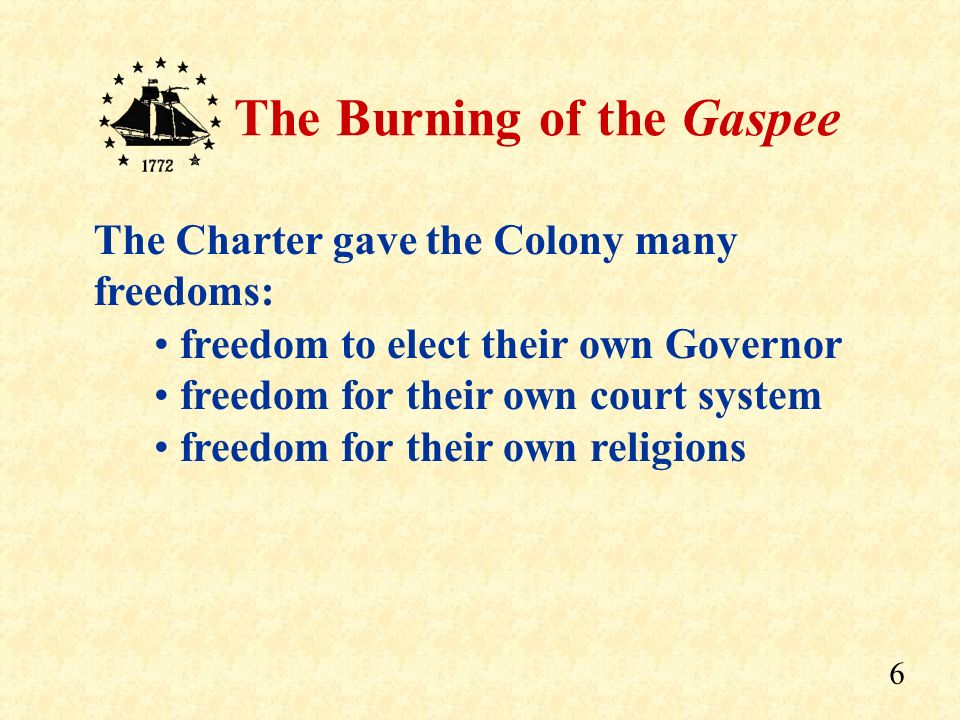 The Charter gave the Colony many freedoms: