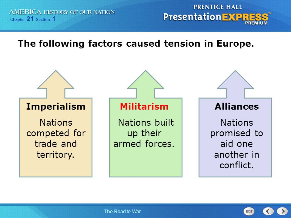 Imperialism Militarism Alliances