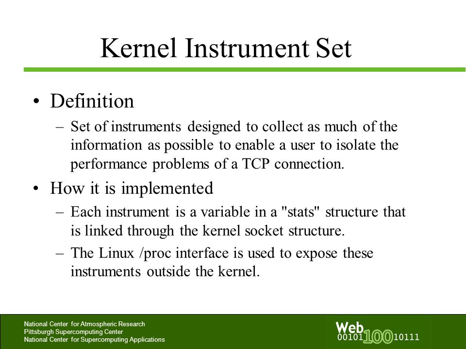Kernel Instrument Set Definition How it is implemented
