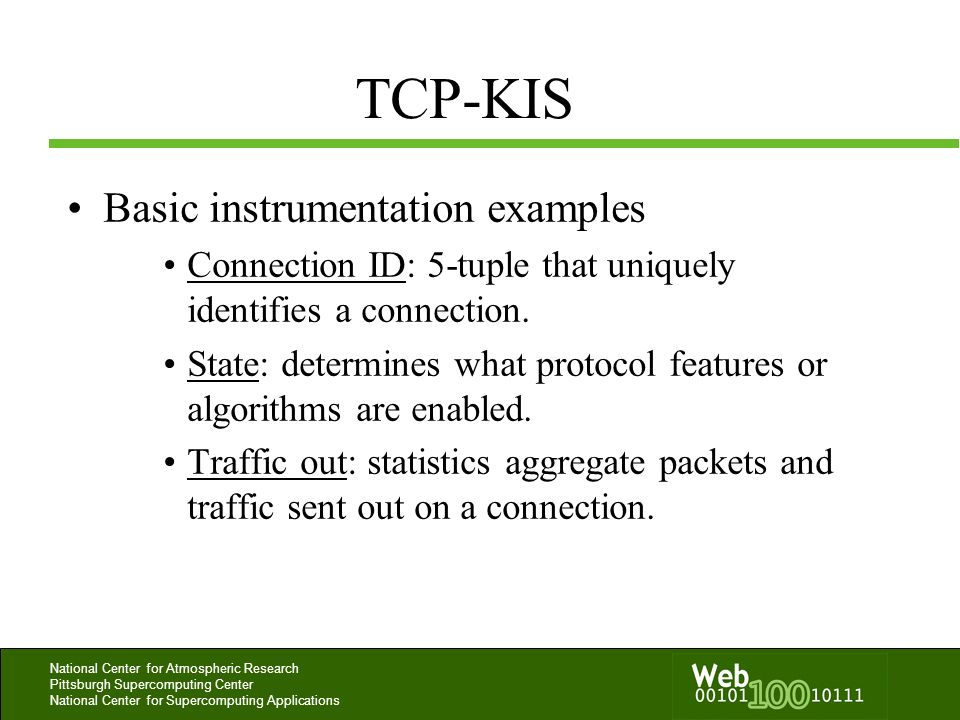 TCP-KIS Basic instrumentation examples