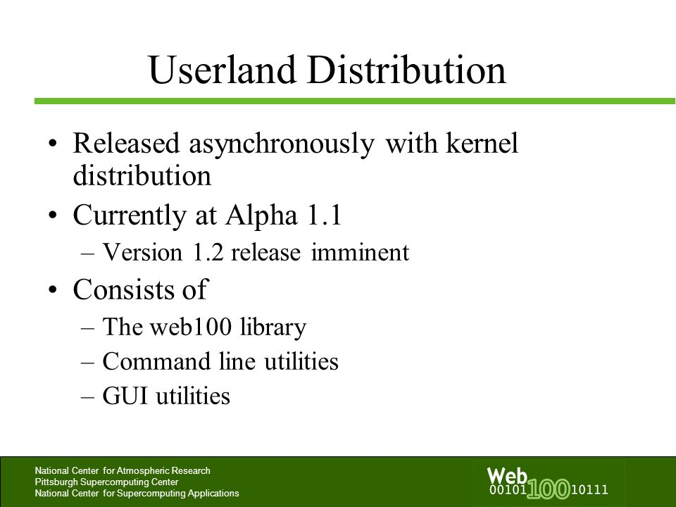 Userland Distribution