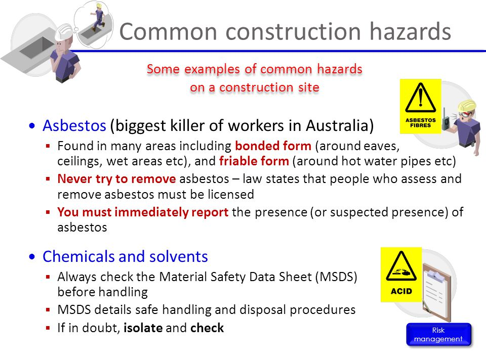 risk management in construction industry thesis Risk management is about thinking ahead and preventing things from going wrong managing risks in construction projects have been recognized as a very important process in order to achieve project objectives in terms of time, cost, quality, safety.