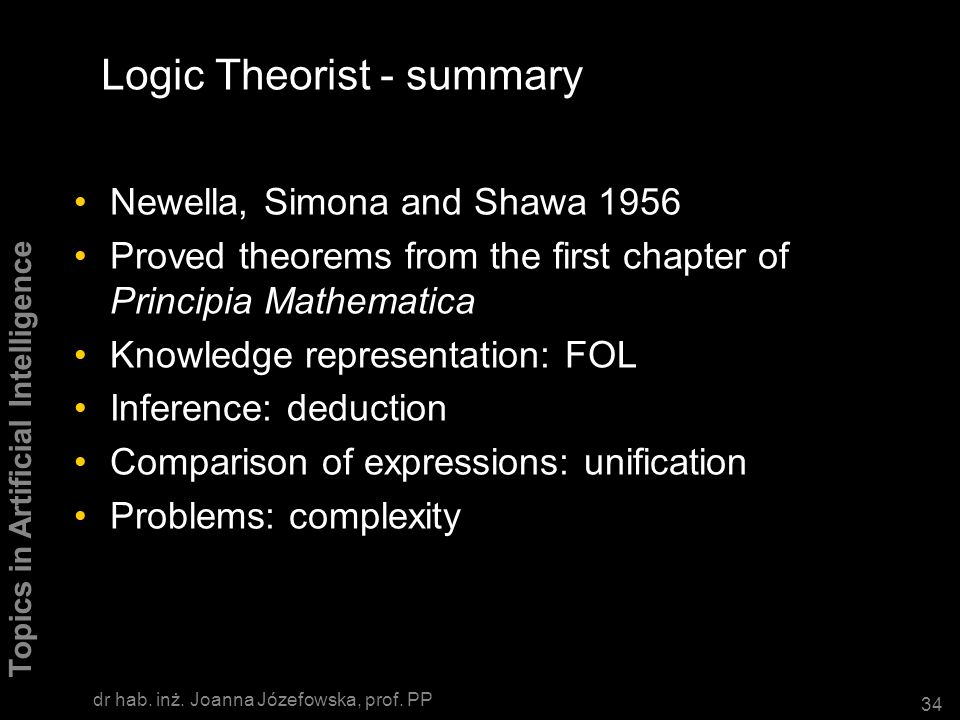 Logic Theorist - summary